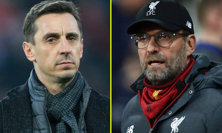 Liverpool manager Jurgen Klopp says Gary Neville has opinion on 'absolutely everything' and ex-Manchester United defender sees funny side