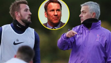 Photo of Jose Mourinho hits again at Paul Merson criticism over Harry Kane's position at Tottenham in passionate four-minute rant