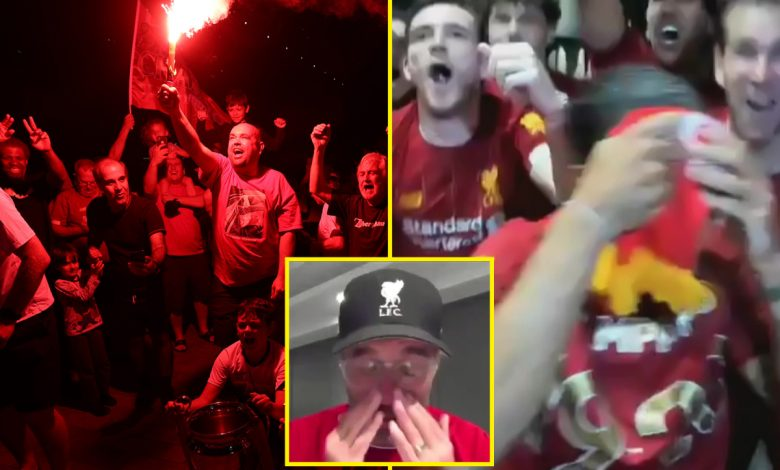 Liverpool win Premier League title LIVE REACTION: Klopp's tears at ending 30-year drought, thousands celebrate at Anfield, players party into the night