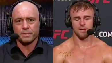 Photo of UFC 250 video: Joe Rogan fights again tears throughout emotional interview with Cody Stamann after the demise of his brother