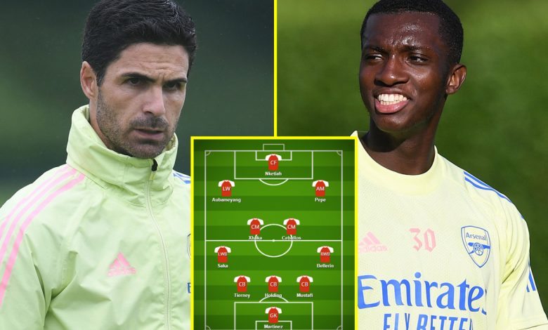 Eddie Nketiah and Nicolas Pepe to start – How Arsenal and Norwich should line up for huge Premier League clash