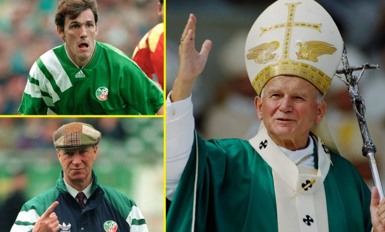 Jack Charlton, Tony Cascarino and the Pope – Funny story about when Republic of Ireland team met His Holiness at 1990 World Cup