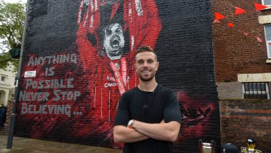 Photo of Jordan Henderson mural unveiled after Liverpool skipper is called FWA Footballer of the Yr