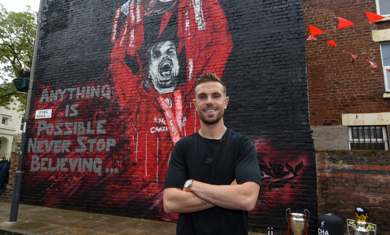 Jordan Henderson mural unveiled after Liverpool skipper is named FWA Footballer of the Year