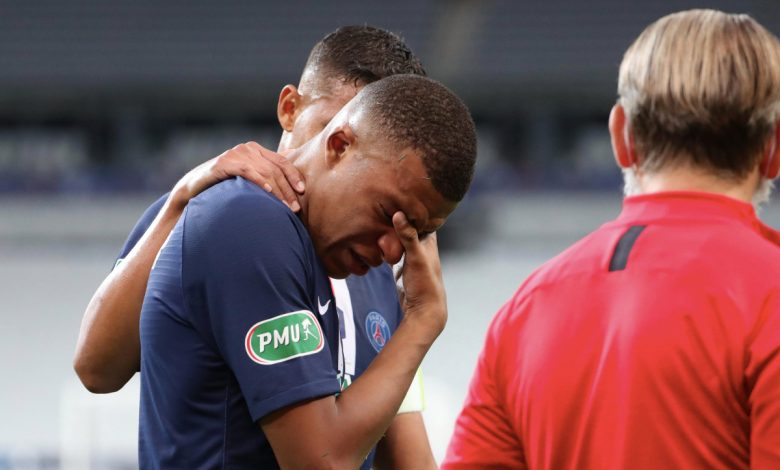 Neymar wins Paris Saint-Germain Coupe de France but Kylian Mbappe spotted on CRUTCHES after sustaining nasty injury