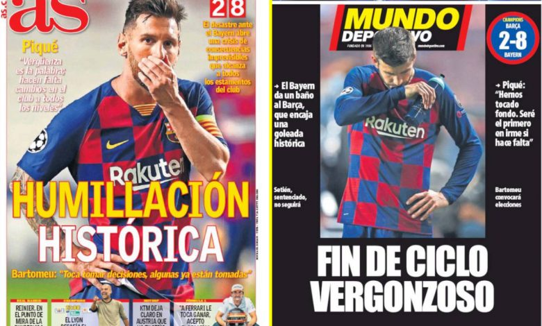 'Disaster, shame, humiliation' – How the Spanish press reacted to Barcelona's thrashing by Bayern Munich