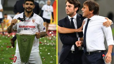Photo of Inter Milan boss Antonio Conte reportedly provided to FIGHT Sevilla midfielder Ever Banega after alleged taunts about his hair transplant