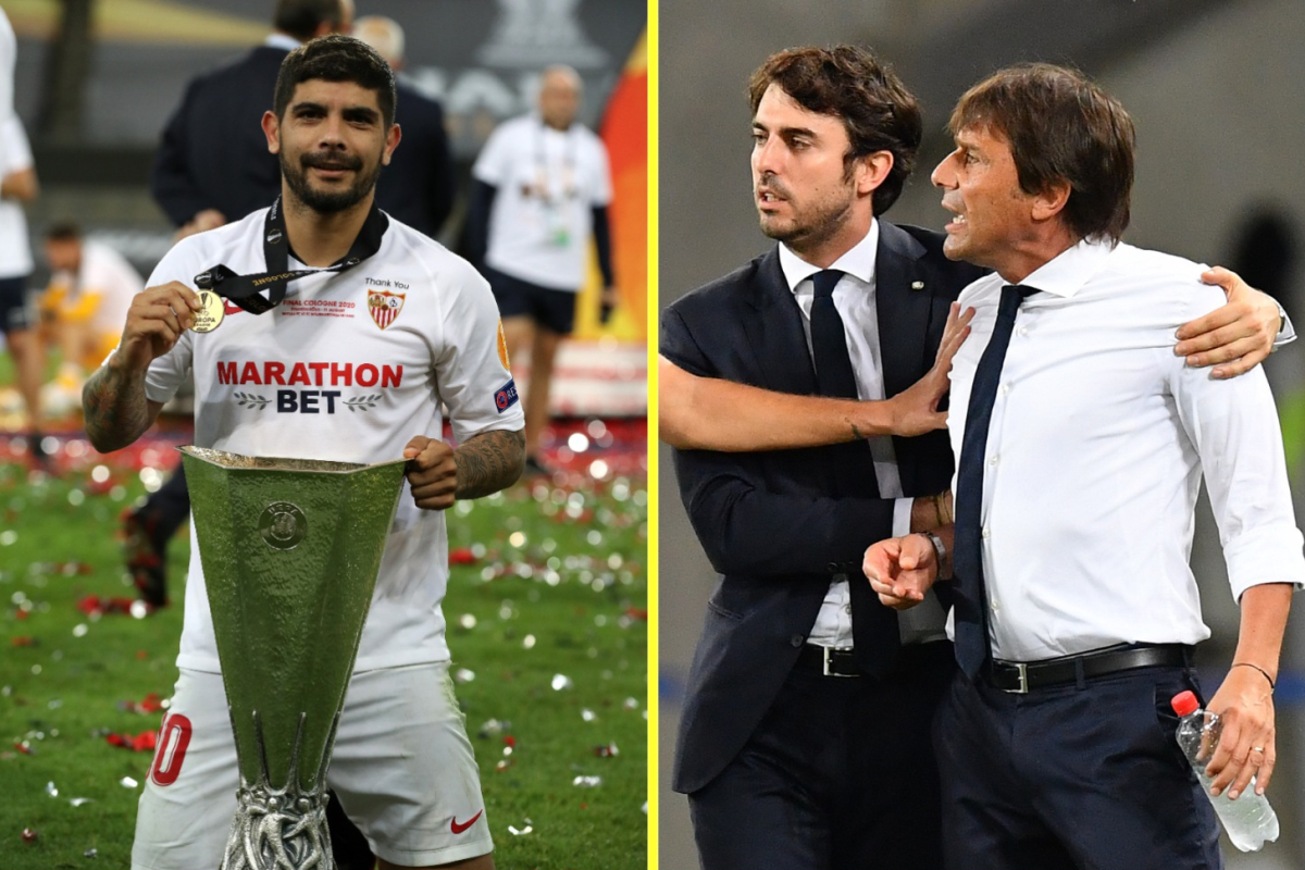 Inter Milan boss Antonio Conte reportedly offered to FIGHT Sevilla midfielder Ever Banega after alleged taunts about his hair transplant