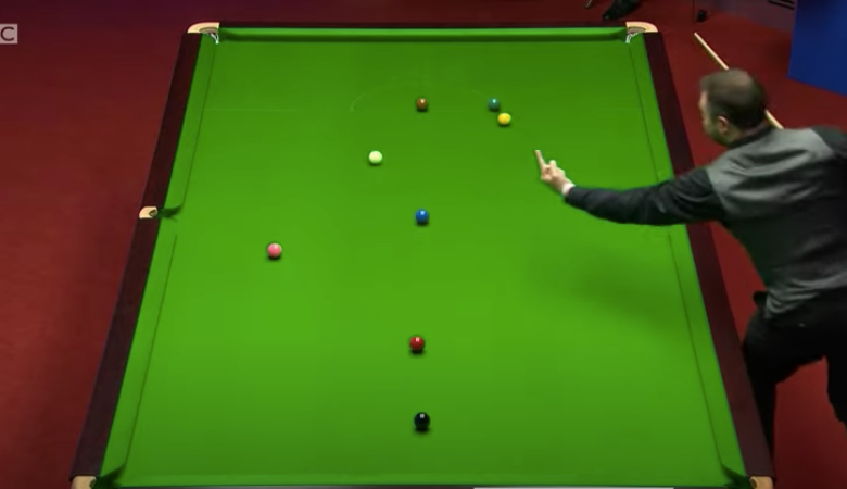 Kurt Maflin warned for swearing at cue ball during World Snooker Championship first round win over David Gilbert