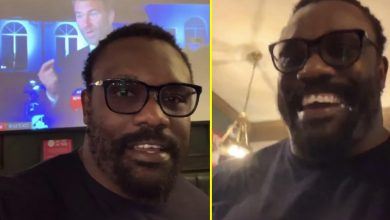 Photo of Watch as Derek Chisora posts hilarious video reacting to Dillian Whyte being KOd by Alexander Povetkin and tells Eddie Hearn: 'Shut the f*** up'
