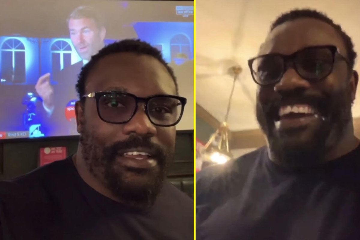 Watch as Derek Chisora posts hilarious video reacting to Dillian Whyte being KOd by Alexander Povetkin and tells Eddie Hearn: 'Shut the f*** up'