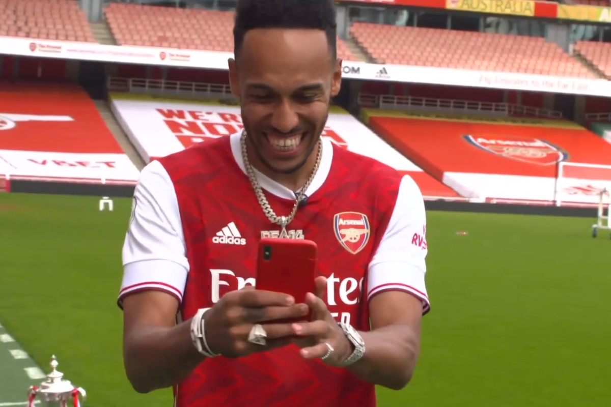 Arsenal legend Ian Wright overcome with joy as he thanks Pierre-Emerick Aubameyang for signing new contract 'when they need him the most'
