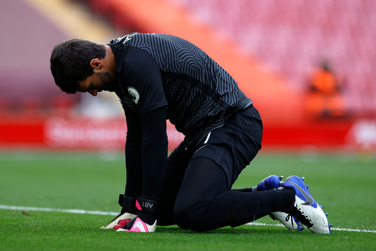 Liverpool could be without Thiago Alcantara and Alisson Becker for Arsenal game as Jurgen Klopp sweats on injury of duo