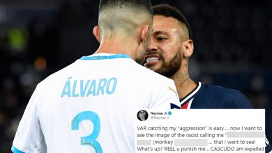 Photo of Neymar accuses Alvaro Gonzalez of racism after punching Marseille defender as PSG ace is one in all FIVE gamers despatched off in mass brawl