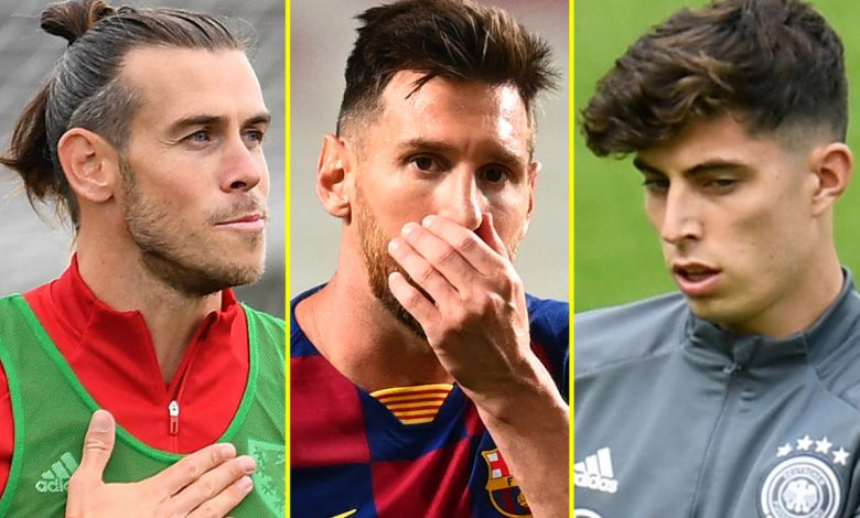 Transfer news LIVE: Chelsea agree £89m Havertz deal, Leicester sign Chilwell replacement, Gareth Bale to leave Real Madrid for FREE, Messi '90% likely' to snub Man City