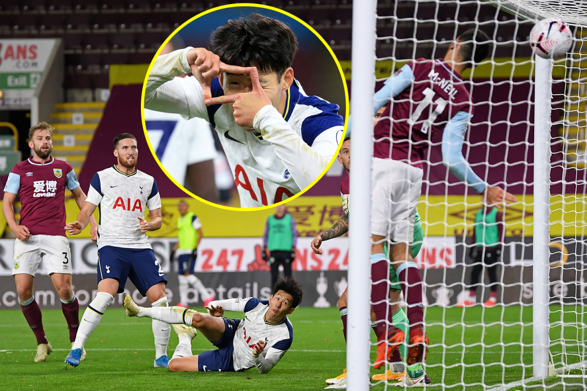 Harry Kane and Heung-min Son combine yet again for Tottenham at Burnley as Ashley Barnes escapes punishment after leaving Toby Alderweireld bloodied and bruised