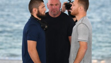 Photo of Justin Gaethje throws interim belt away and warns Khabib Nurmagomedov he's coming for actual light-weight title at UFC 254 – 'That's the one I need'