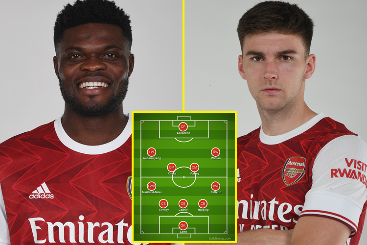 Kieran Tierney and Thomas Partey IN, Kevin De Bruyne and Gabriel Jesus OUT: How Arsenal and Man City should line up as Gunners get major boost
