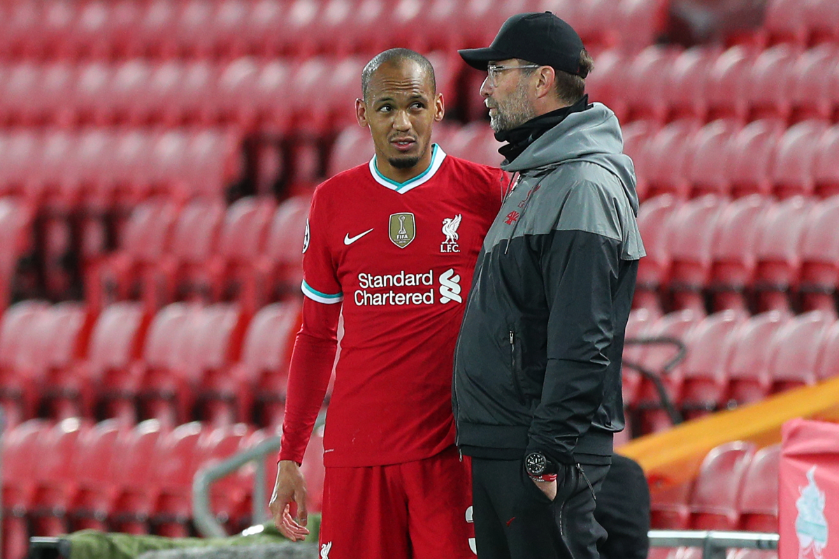 Liverpool 'may be forced into January signings' as defensive crisis deepens with Fabinho injury