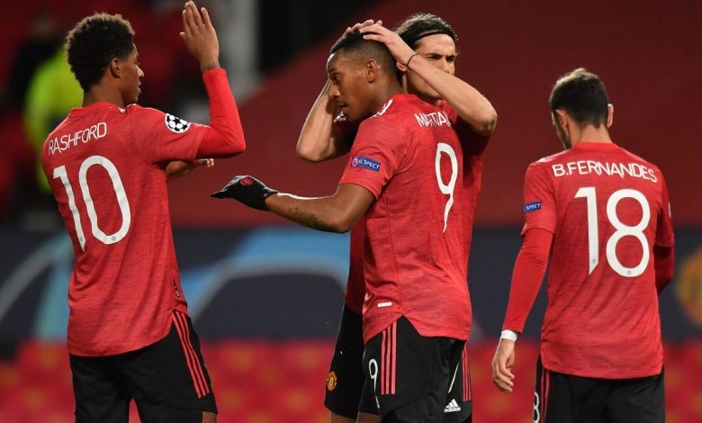 Marcus Rashford selflessly gives away hat-trick penalty to let Anthony Martial score first goal of season in Manchester United's thrashing of RB Leipzig