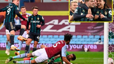 Photo of Patrick Bamford nets 19-minute hat-trick as Leeds inflict first Premier League defeat of season on Aston Villa