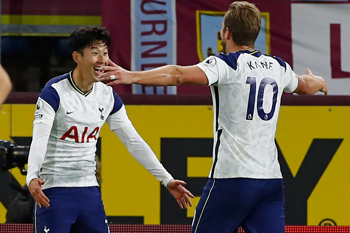 Premier League's deadliest duo? Harry Kane and Heung-min Son combine for NINTH time this season as Tottenham edge past Burnley at Turf Moor