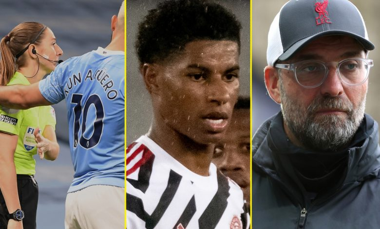 Three huge Premier League games, Klopp puts Liverpool rivalry aside to hail Man United's Rashford, Guardiola reiterates defence of Man City's Aguero