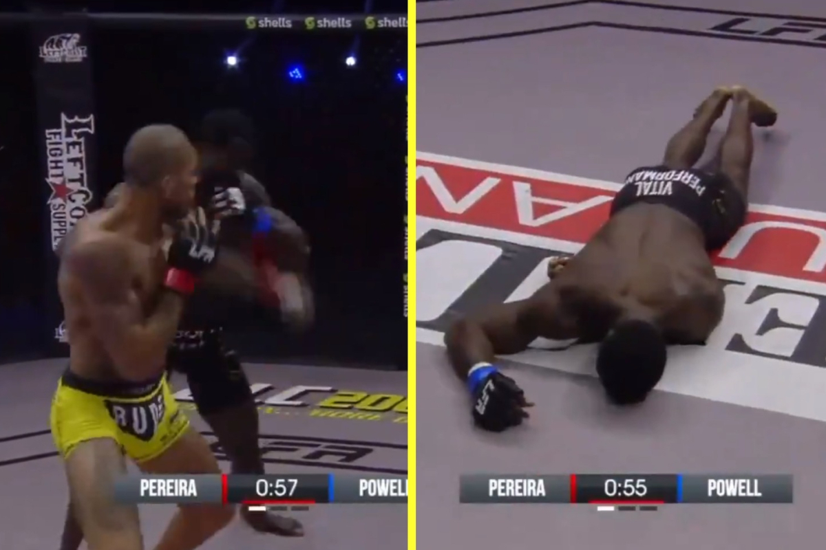 Alex Pereira – the only man to knock out Israel Adesanya – produces frightening one-punch KO at Legacy Fighting Alliance