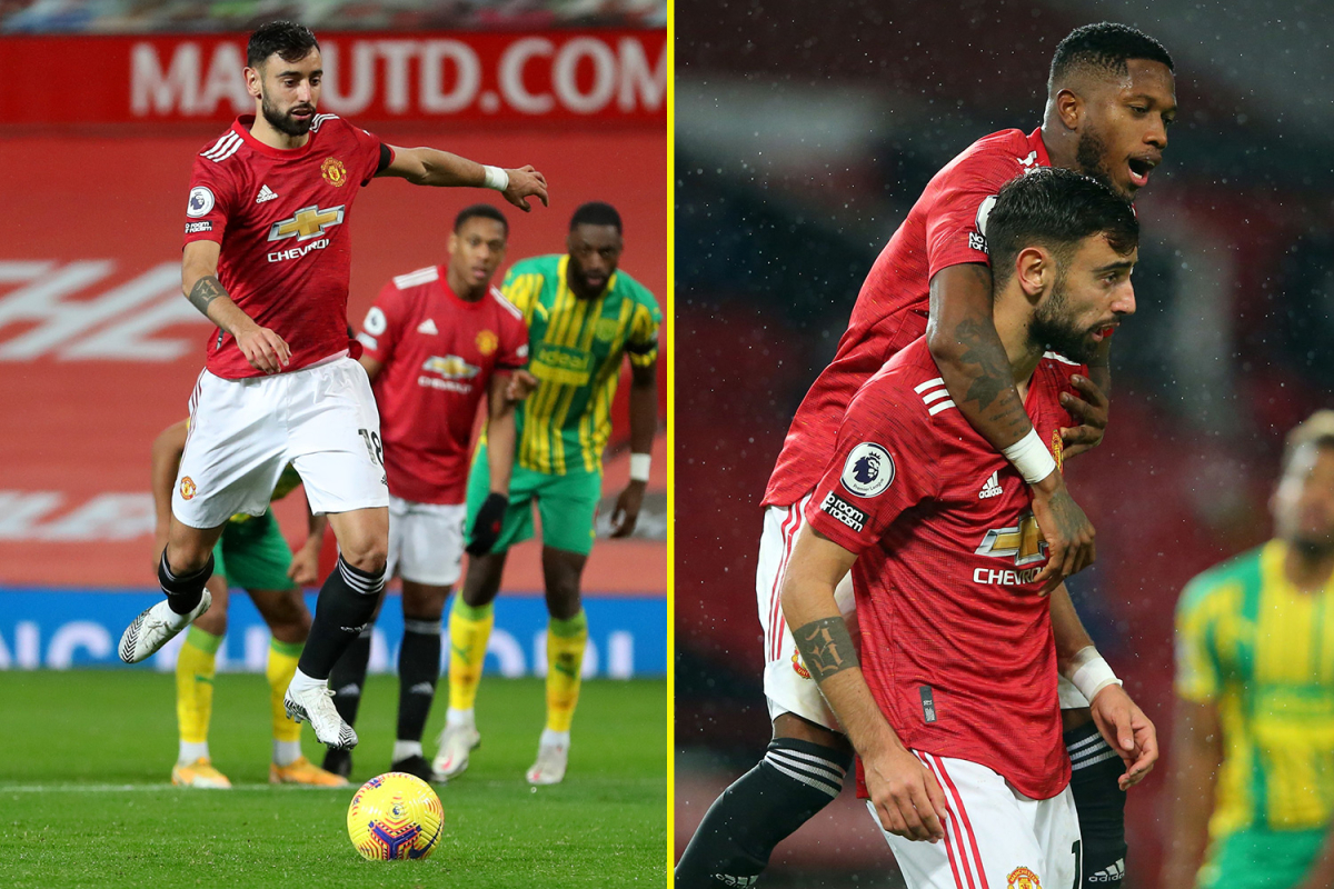 Bruno Fernandes comes out on top after VAR penalty drama as Manchester United claim all three points against West Brom