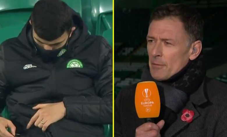 Celtic star Mohamed Elyounoussi caught using mobile phone during Europa League defeat as Chris Sutton slams 'gutless' and 'pathetic' Hoops