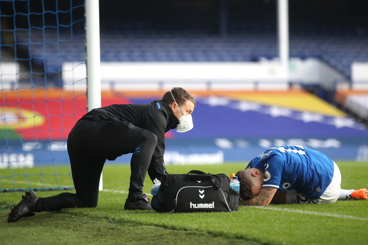 Everton suffer major blow as scans reveal Lucas Digne requires surgery on ankle ligament injury