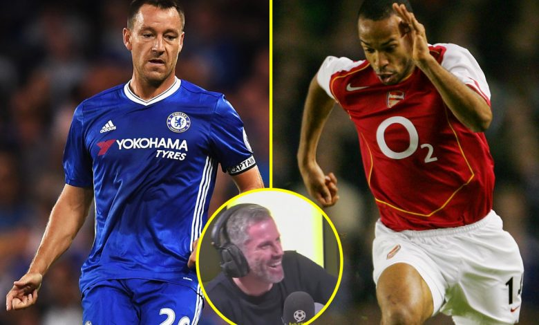 Jamie Carragher names Chelsea's 'better version of him', 'God-like' Lionel Messi, and Arsenal icon among best opponents