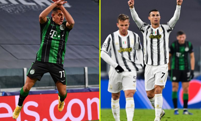 Juventus star Cristiano Ronaldo trolled by Ferencvaros striker who copies his goal celebration but strikes back to equal Lionel Messi record