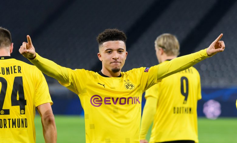 Manchester United target Jadon Sancho channels inner David Beckham with stunning free-kick for Borussia Dortmund in Champions League victory