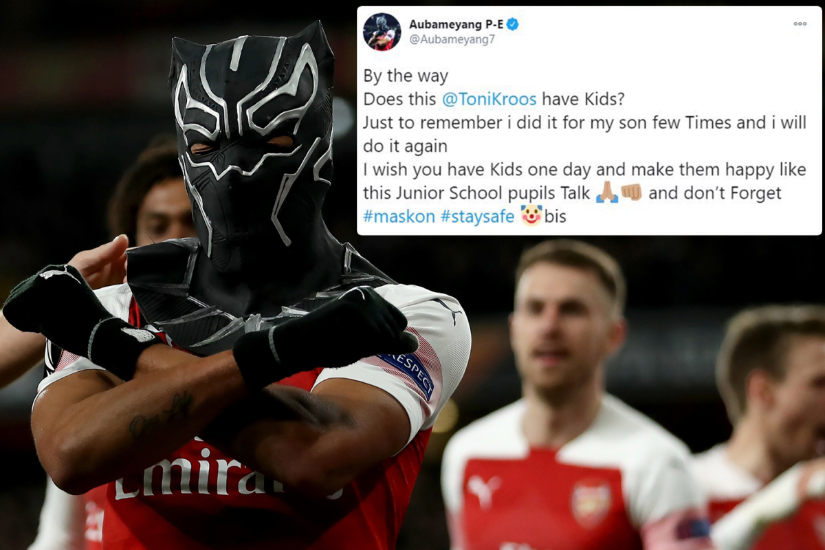 Pierre-Emerick Aubameyang and Toni Kroos continue war of words over mask celebration – and Arsenal teammate Mesut Ozil gets involved