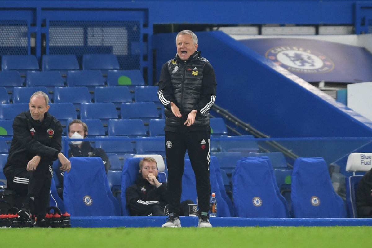 Sheffield United boss Chris Wilder takes issue with officials for Chelsea's third goal in defeat at Stamford Bridge