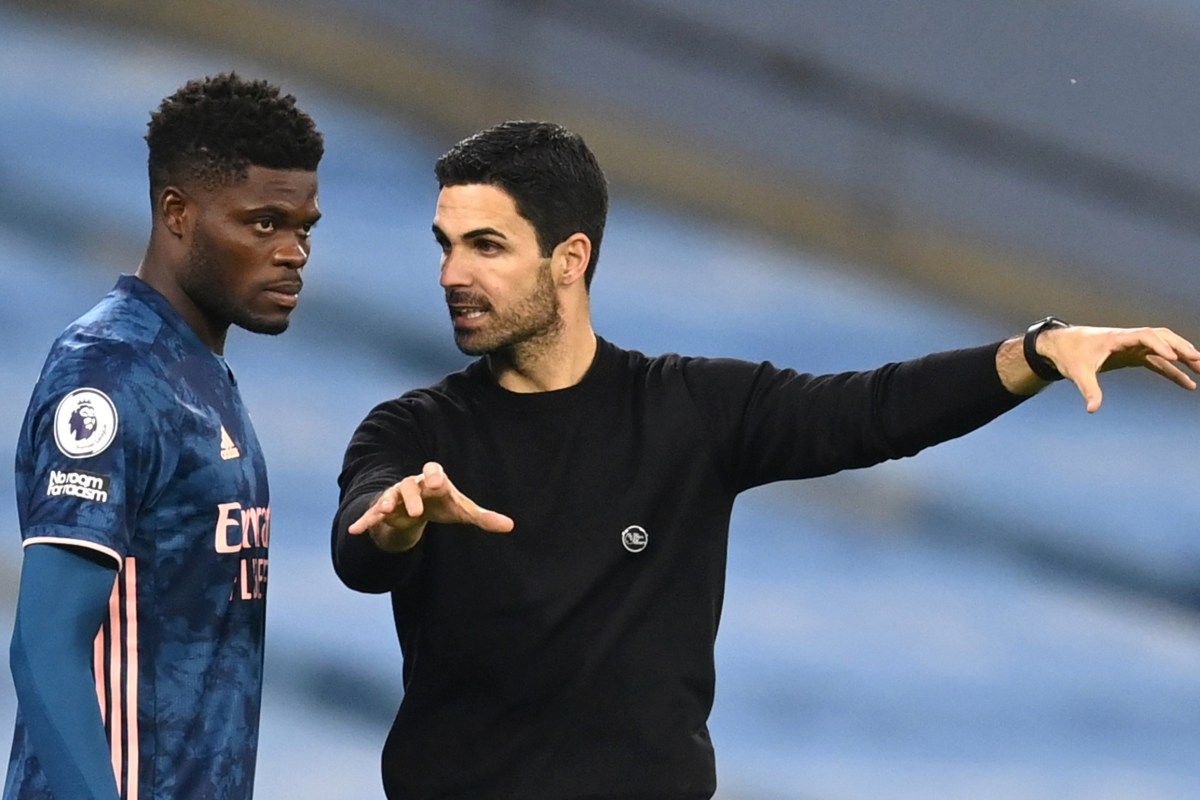 Thomas Partey set to miss Arsenal's next few fixtures with thigh injury, as Mikel Arteta admits he's 'really concerned' by recent slump in form following Wolves defeat