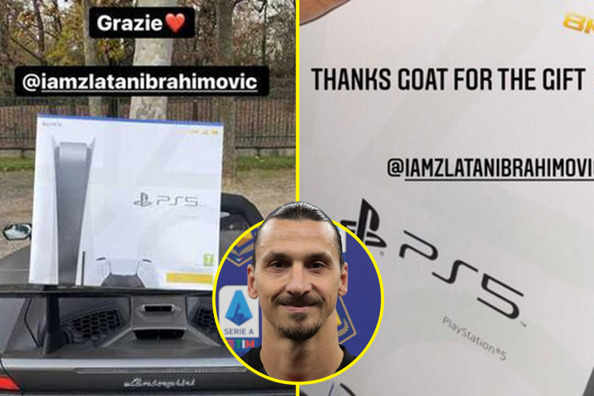 Zlatan Ibrahimovic gifted a PS5 to every single AC Milan squad player after scoring eight goals in just FIVE Serie A matches