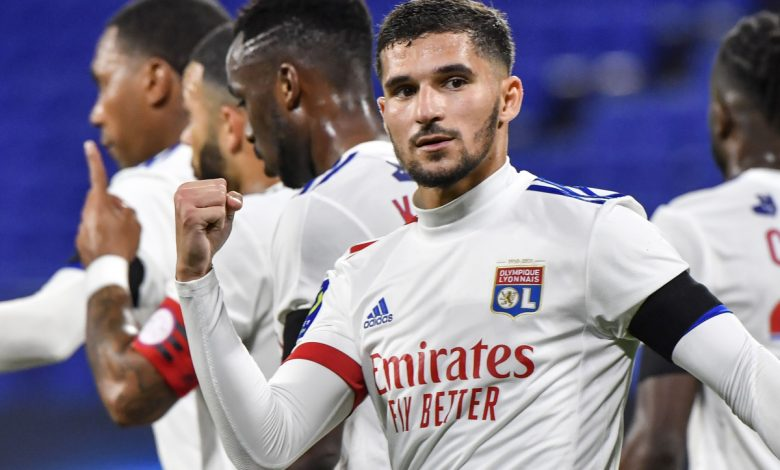 Arsenal target Houssem Aouar 'savouring every day at Lyon' as France playmaker admits he's happy move to Premier League failed