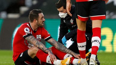 Photo of Danny Ings compelled off with one other harm and heads straight down tunnel with Southampton dropping to Man Metropolis