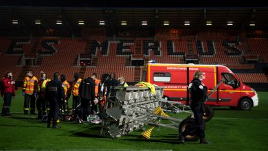 Photo of FC Lorient groundsman, 38, tragically dies after a floodlight bar falls on him in freak accident after Ligue 1 membership's defeat to Rennes