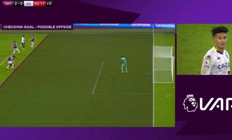 Fresh VAR controversy as painstakingly long review results in Aston Villa being denied last-gasp equaliser against West Ham