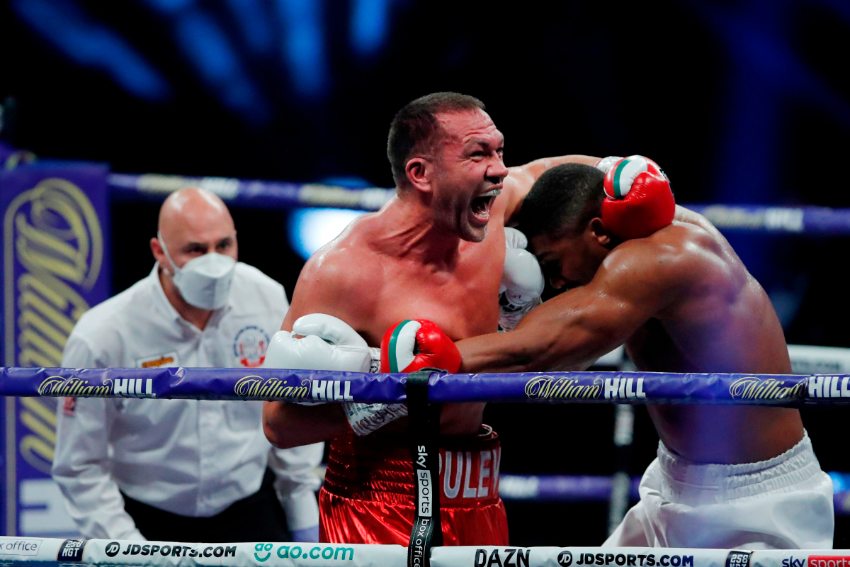 Kubrat Pulev let out bizarre scream during Anthony Joshua fight as he tried to convince AJ he wasn't hurt before being knocked down