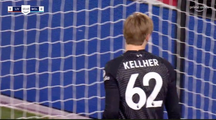 Liverpool replace Caoimhin Kelleher's shirt at half-time with name spelt incorrectly vs Wolves