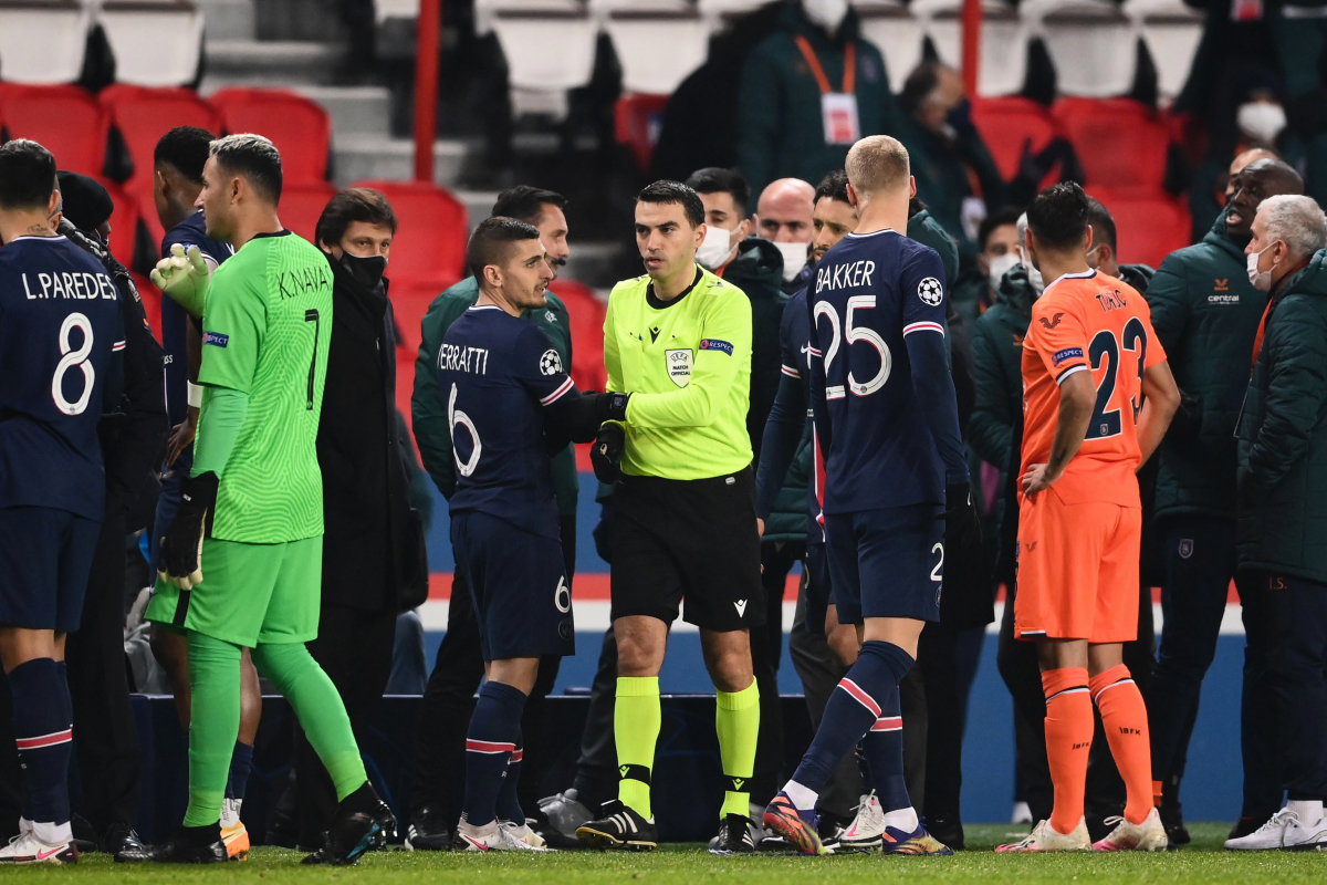 Man United crash out of Champions League, PSG tie abandoned after 'racist incident', Ronaldo outshines Messi