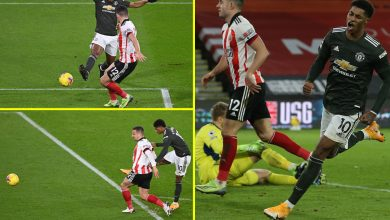 Photo of Manchester United develop into first Premier League facet EVER to win six consecutive away video games after conceding first as Marcus Rashford strikes twice to sink Sheffield United