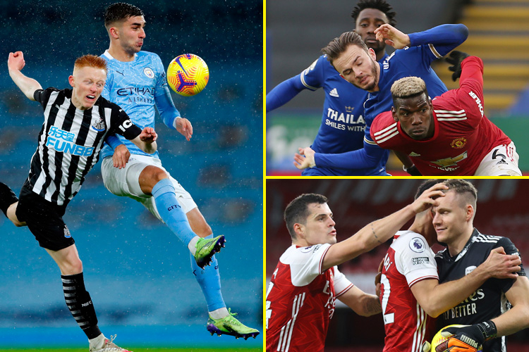 Premier League fixtures and results live: Arsenal get the better of Chelsea, Man City winning, Leicester deny Manchester United win