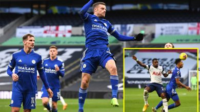 Photo of Tottenham winless in three as Leicester star Jamie Vardy scores his SEVENTH penalty of the Premier League season to place Foxes second