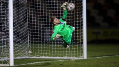 Photo of Brighton goalkeeper Jason Steele redeems himself for howler to save lots of FOUR penalties in shootout as Seagulls keep away from FA Cup big killing to Newport