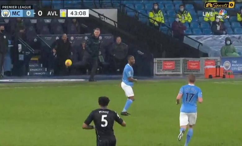 Dean Smith shows he has still got it with amazing first touch during Man City vs Aston Villa clash